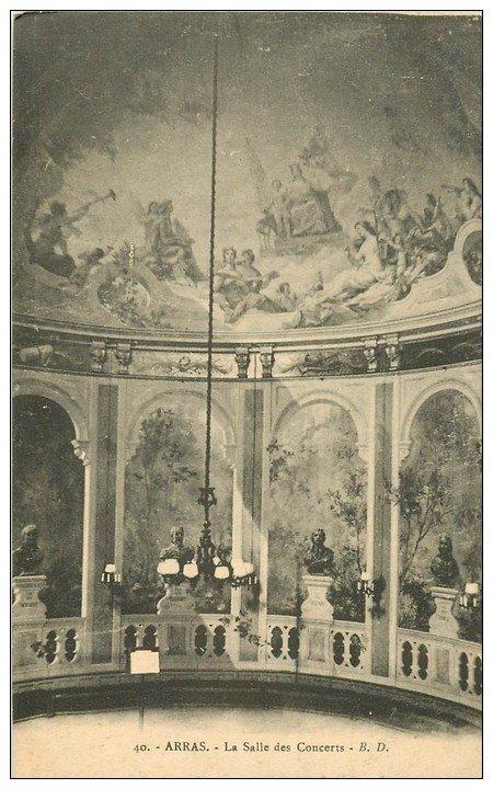 carte postale ancienne 62 ARRAS. Hôtel de Ville. Salle des Concerts