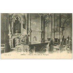 carte postale ancienne 62 ARRAS. Hôtel de Ville. Salle des Mariages