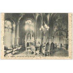 carte postale ancienne 62 ARRAS. Hôtel de Ville. Salon des Mariages 1903