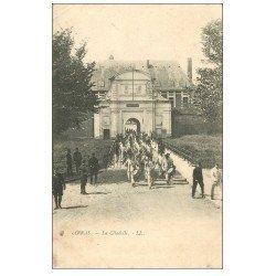 carte postale ancienne 62 ARRAS. La Citadelle vers 1900 Fanfare Militaire