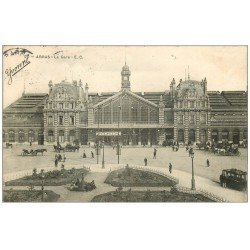 carte postale ancienne 62 ARRAS. La Gare 1906