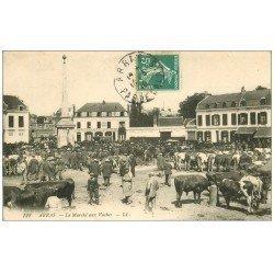 carte postale ancienne 62 ARRAS. Le Marché aux Vaches 1910