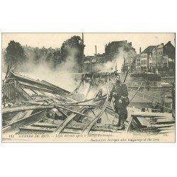carte postale ancienne 62 ARRAS. Ligne du Chemin de Fer détruite par le Génie Français
