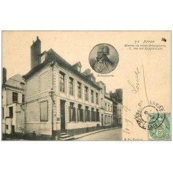 carte postale ancienne 62 ARRAS. Maison Robespierre Rue des Rapporteurs 1907