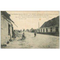 carte postale ancienne 62 AUX RIETZ. Poilus Route d'Arras 1915