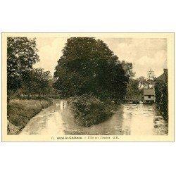 carte postale ancienne 62 AUXI-LE-CHATEAU. L'Ile sur l'Authie