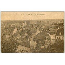 carte postale ancienne 62 AUXI-LE-CHATEAU. Vue générale