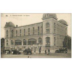 carte postale ancienne 62 BERCK. Le Casino et voitures anciennes