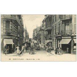 carte postale ancienne 62 BERCK. Pharmacie Rue de la Mer 1921