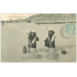 carte postale ancienne 62 BERCK-PLAGE. Les Verrières 1907 Métiers de la Mer