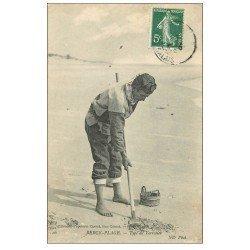 carte postale ancienne 62 BERCK-PLAGE. Type de Verrotier 1907 Métiers de la Mer