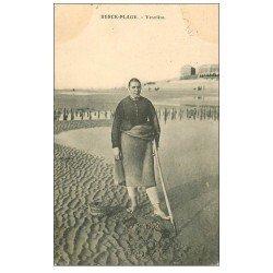 carte postale ancienne 62 BERCK-PLAGE. Vérotière 1908. Métiers de la Mer