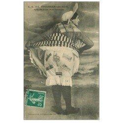 carte postale ancienne 62 BOULOGNE-SUR-MER. Publicité locale. Cartes Postales sur Matelote 1910