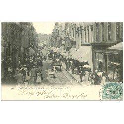 carte postale ancienne 62 BOULOGNE-SUR-MER. Rue Thiers 1903. Tampon tailleur Dreyfus