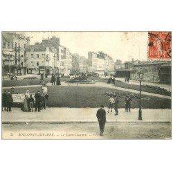 carte postale ancienne 62 BOULOGNE-SUR-MER. Square Dammon 1908 vente étalage Cartes Postales