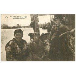 carte postale ancienne 62 BOULOGNE-SUR-MER. Types de Matelots 1931. Métiers de la Mer