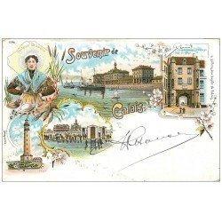 carte postale ancienne 62 CALAIS. Carte Pionnière vers 1900 vierge