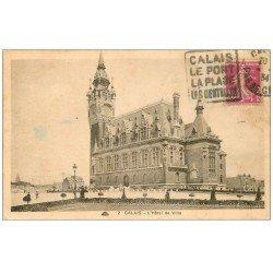 carte postale ancienne 62 CALAIS. Hôtel de Ville 1934