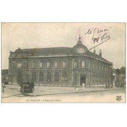 carte postale ancienne 62 CALAIS. Hôtel des Postes. Tampon Militaire