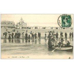 carte postale ancienne 62 CALAIS. La Plage 1908