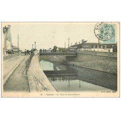 carte postale ancienne 62 CALAIS. Le Pont de Saint-Pierre 1905