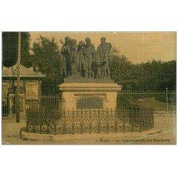 carte postale ancienne 62 CALAIS. Monument des six Bourgeois. Carte toilée