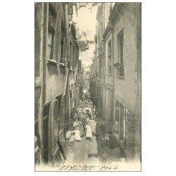 carte postale ancienne 62 CALAIS. Une Rue du Courgain 1904
