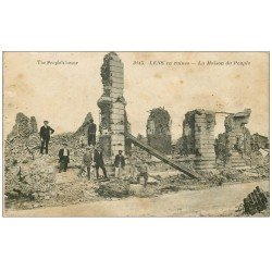 carte postale ancienne 62 LENS Guerre. Maison du Peuple
