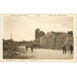 carte postale ancienne 62 LENS Ruines. L'Eglise