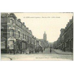 carte postale ancienne 62 LENS. Au Café Fin rue de Lille