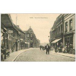 carte postale ancienne 62 LENS. Coiffeur rue de la Porte d'Arras 1913