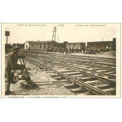 carte postale ancienne 62 LENS. La Gare
