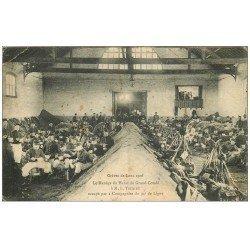 carte postale ancienne 62 LENS. Manège Haras Grand Condé. Grève 1906 occupé par 2 Compagnies du 94° de Ligne