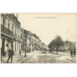 carte postale ancienne 62 LENS. Rue de la Gare Grand Hôtel