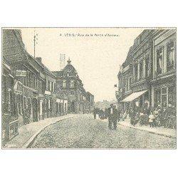 carte postale ancienne 62 LENS. Rue de la Porte d'Arras 1915