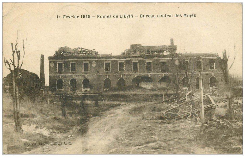 62 lievin guerre 1914 18 bureau central des mines 1919. Black Bedroom Furniture Sets. Home Design Ideas