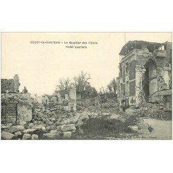 carte postale ancienne 02 COUCY-LE-CHATEAU. Quartier des Hôtels