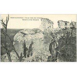 carte postale ancienne 02 COUCY-LE-CHATEAU. Restes des Remparts