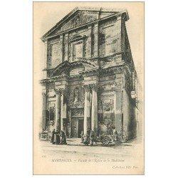 carte postale ancienne 13 MARTIGUES. Attelage chèvre Eglise de la Madeleine. Carte Pionnière vers 1900 vierge