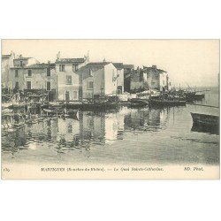 carte postale ancienne 13 MARTIGUES. Le Quai Sainte-Catherine