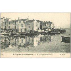 carte postale ancienne 13 MARTIGUES. Le Quai Sainte-Catherine