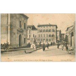 carte postale ancienne 13 MARTIGUES. Tribunal de Pêche et Statue de Richaud 1905