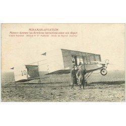 carte postale ancienne 13 MIRAMAS-AVIATION. Métrot avant son départ. Aviateur, Aéroplane, Avion... 1914