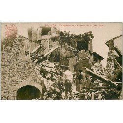 carte postale ancienne 13 ROGNES. Sauveteurs après le tremblement de terre de 1909. Carte Photo H. Ely