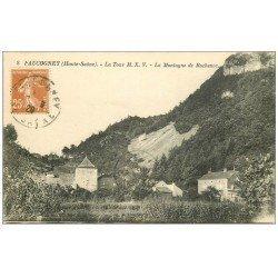 carte postale ancienne 70 FAUCOGNEY. Tour et Montagne de Rochenoz 1929