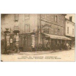 carte postale ancienne 70 FOUGEROLLES. Hôtel du Commerce et Café Restaurant