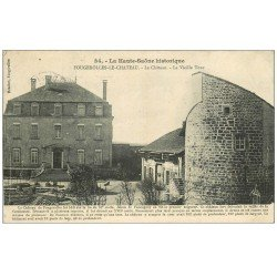 carte postale ancienne 70 FOUGEROLLES-LE-CHATEAU. La Vielle Tour vers 1908. Timbre manquant