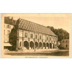 carte postale ancienne 70 GRAY. Hôtel de Ville et Maison Febvrel 1937
