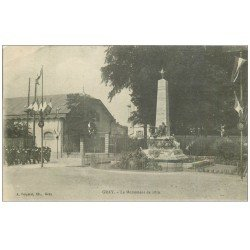 carte postale ancienne 70 GRAY. Le Monument et Parade de Militaires 1916