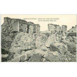 carte postale ancienne 02 COUCY-LE-CHATEAU. Ruines des Remparts